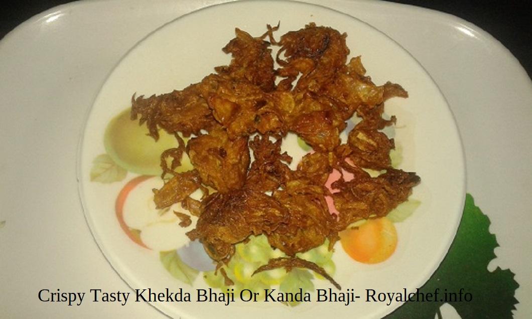 Crispy Tasty Khekda Bhaji Or Kanda Bhaji