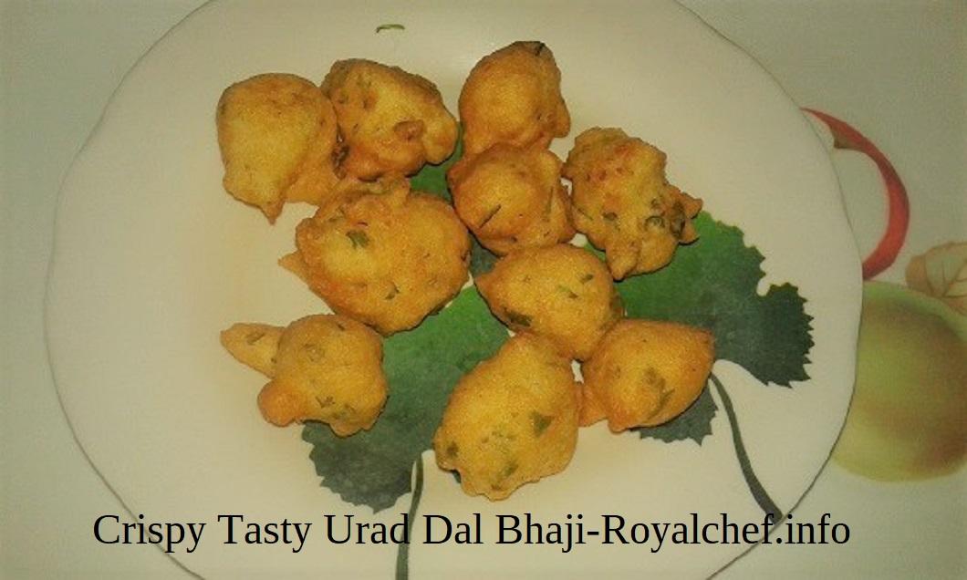 Crispy Tasty Urad Dal Bhaji For Nashta