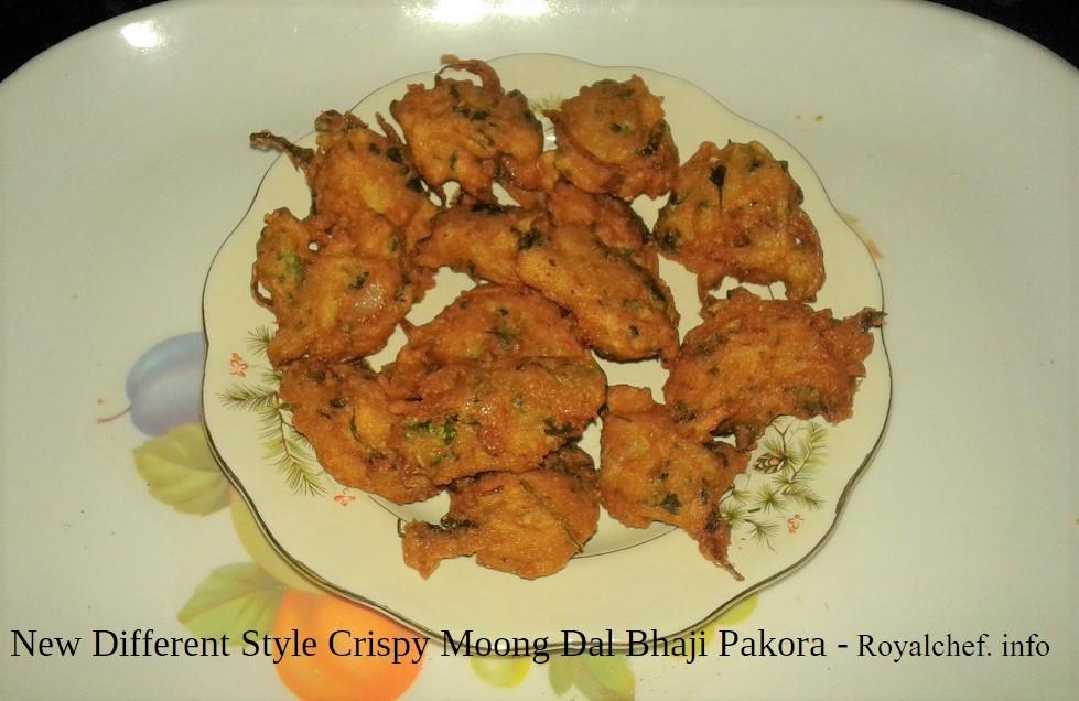New Different Style Crispy Moong Dal Bhaji Pakora