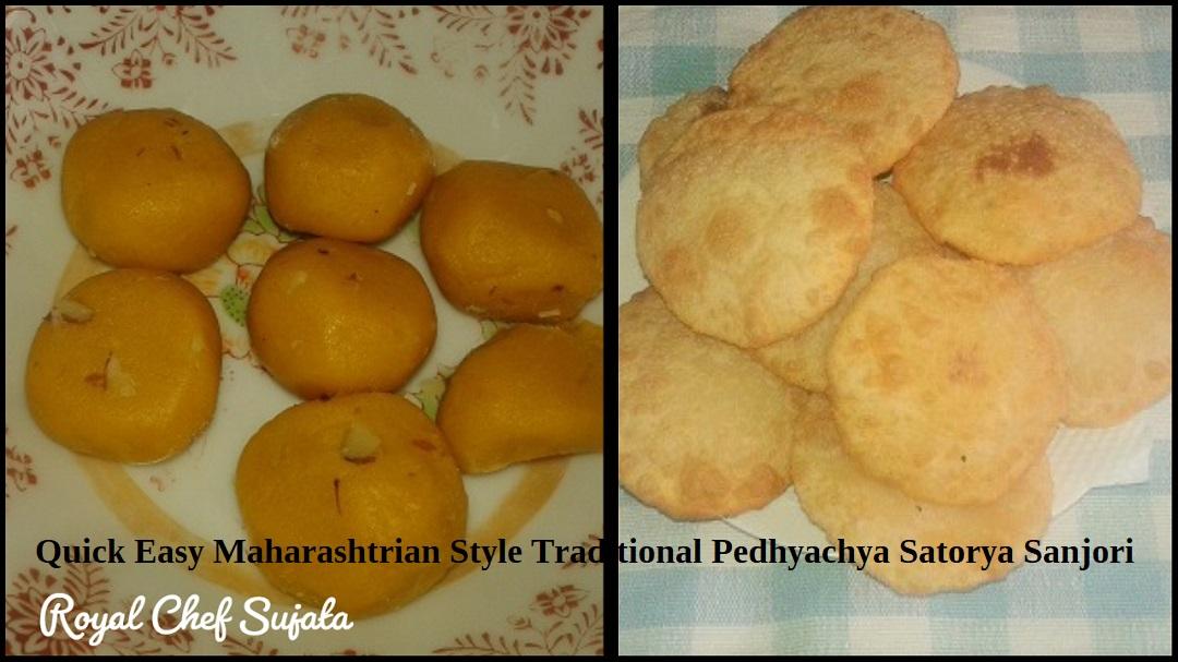 Maharashtrian Style Traditional Pedhyachya Satorya Sanjori Sanjuri