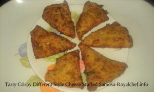 Tasty Crispy Different Style Cheese Stuffed Samosa