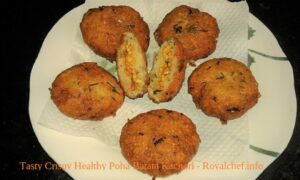 Tasty Crispy Healthy Poha Batata Kachori