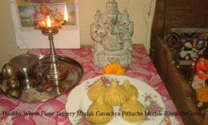Healthy Wheat Flour Jaggery Modak Gavachya Pithache Modak