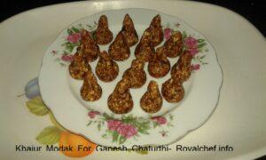Khajur Modak For Ganesh Chaturthi