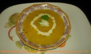 Garma Garam Lal Bhopla (Red Pumpkin) Soup