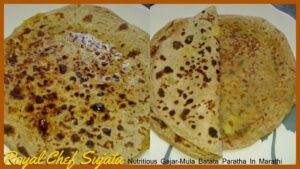 Nutritious Gajar-Mula Batata Paratha