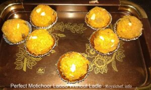 Perfect Motichoor Ladoo Without Ladle