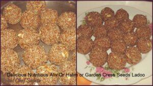 Delicious Nutritious Aliv Or Halim or Garden Cress Seeds Ladoo