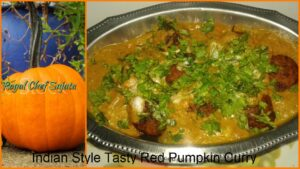 Indian Style Tasty Red Pumpkin Curry